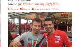 Max Biaggi con un Tweet rende onore a Checa