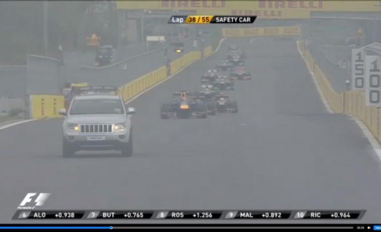 Formula 1 GP di Corea: Webber a fuoco, una Jeep in pista!