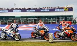 Un momento storico nel GP di Phillip Island: The 3 legends