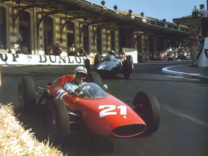 Al volante della Ferrari nel 1963
