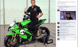 Luca Scassa, in Supebike EVO con la Ninja del Team Pedercini