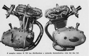 Motore Ducati 125 GP desmodromico trialbero