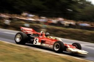Rindt al volante della Lotus 72