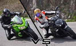 Test ride Kawasaki Z1000 VS Z1000SX, gemelle diverse