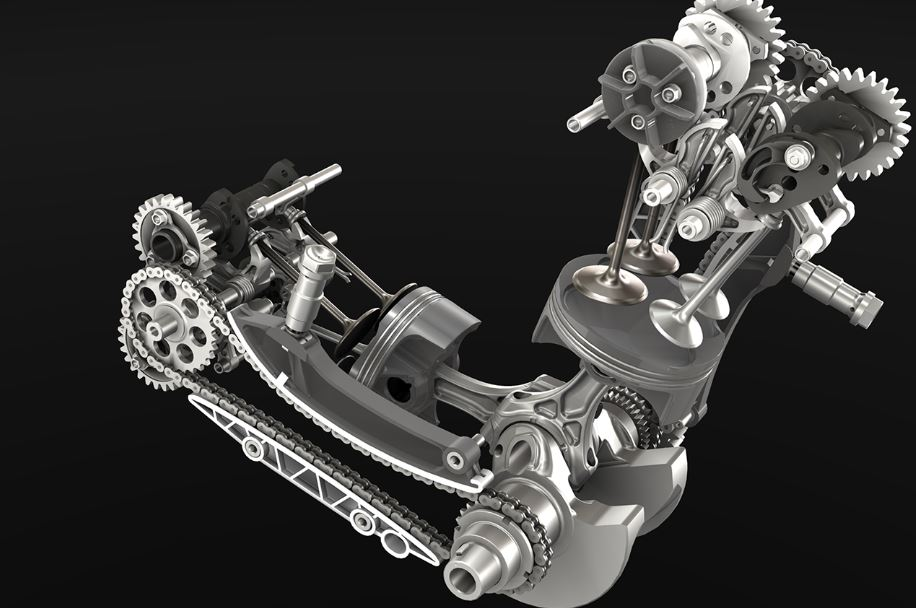 Ducati Panigale Engine Gif
