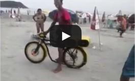 Non hai una moto ma hai una bici? No problem, il sound è quello giusto!