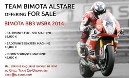 Team Bimota Alstare mette in vendita le proprie SuperBike!