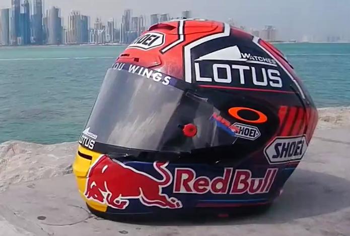 Il nuovo casco di Marc Marquez