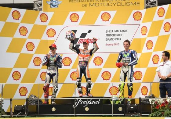 MotoGp Sepang: Pedrosa trionfa, Lorenzo segue... Rossi terzo ma si apre il caso Marquez