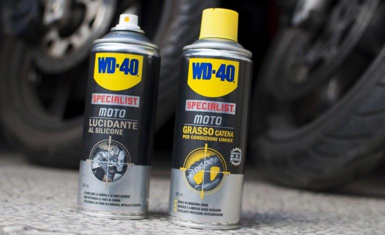 WD-40 le prove del Grasso Catena e del Lucidante al Silicone