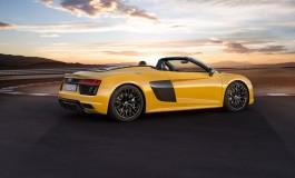 Nuova Audi R8 Spyder V10: anteprima mondiale al Salone Internazionale dell'Auto di New York
