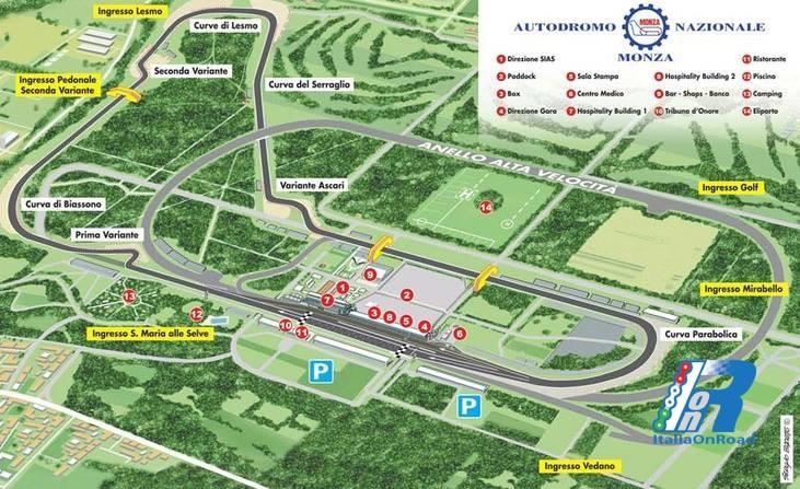 Monza: parabolica e sopraelevata, un chiarimento