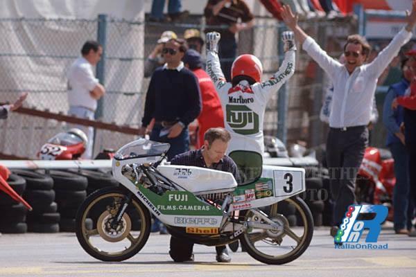 15 aprile 1984 P. P. Bianchi, vince il primo GP della storia della classe 80