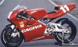 Il primo punto iridato e il primo podio della Cagiva nella classe 500