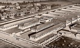 1° giugno 1935, posa della prima pietra dello stabilimento Ducati a Borgo Panigale