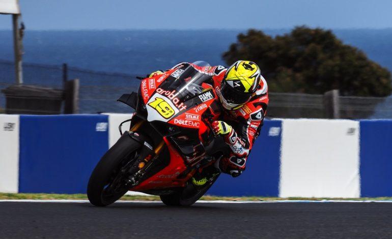 WorldSBK – Ducati al comando nei test di Phillip Island con Alvaro Bautista