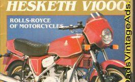 La HESKETH V1000, l'araba fenice dell'industria britannica che si ispirava alla Ducati