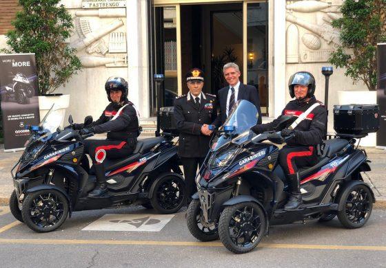 Due Qooder consegnati all'Arma dei Carabinieri di Milano in occasione dei 205 anni dalla fondazione