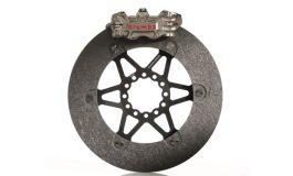 La prima volta dei dischi in carbonio su una moto